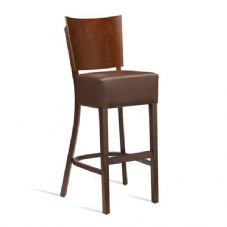 Vanna Wine Bar Stool Dark Walnut Brown
